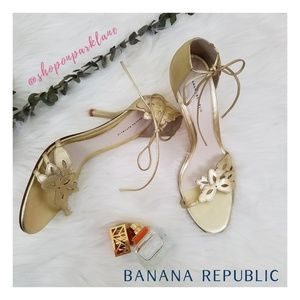 Banana Republic Floral Cutout High Heel Sandals, 9